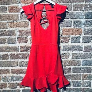 Red Classy Dress